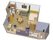 Plánek apartmánu - typ B