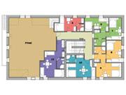 Plánek 2. nadzemní podlaží