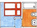 Apartmá 2 - plánek