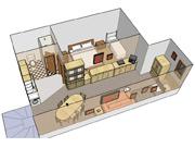 Plánek apartmánu - typ D