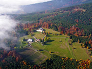 Letecký pohled na osadu Rezek