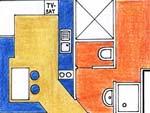 Apartmá 4 - plánek