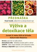 Přednáška: Výživa a detoxikace těla